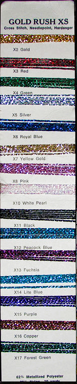 Gold Rush XS shade card